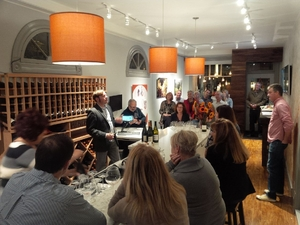 Sommelier to the Stars Chris Sawyer holds court at the BVC Tasting Room